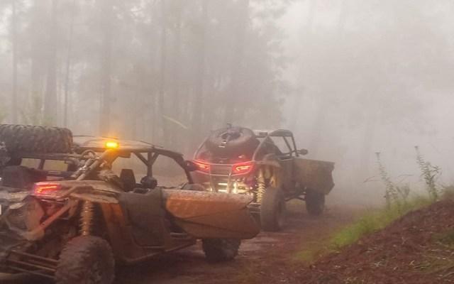 Pilotos de Coalcomanazo quedan atrapados en sierra michoacana por Narda - Coalcomanazo 2019. Foto de @coalcomanazo