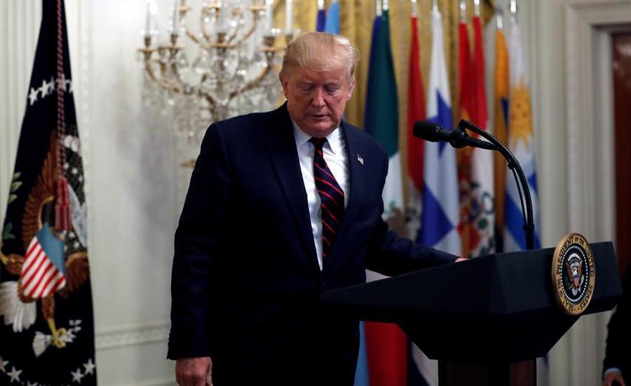 """Donald Trump vuelve a quejarse de """"acoso"""" y ataca a demócratas - Donald Trump, presidente de Estados Unidos. Foto de EFE."""