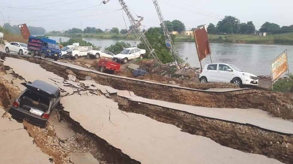 Sismo magnitud 5.8 deja al menos cuatro muertos en Pakistán - Daños en Jatlan de Mirpur. Foto de Twitter