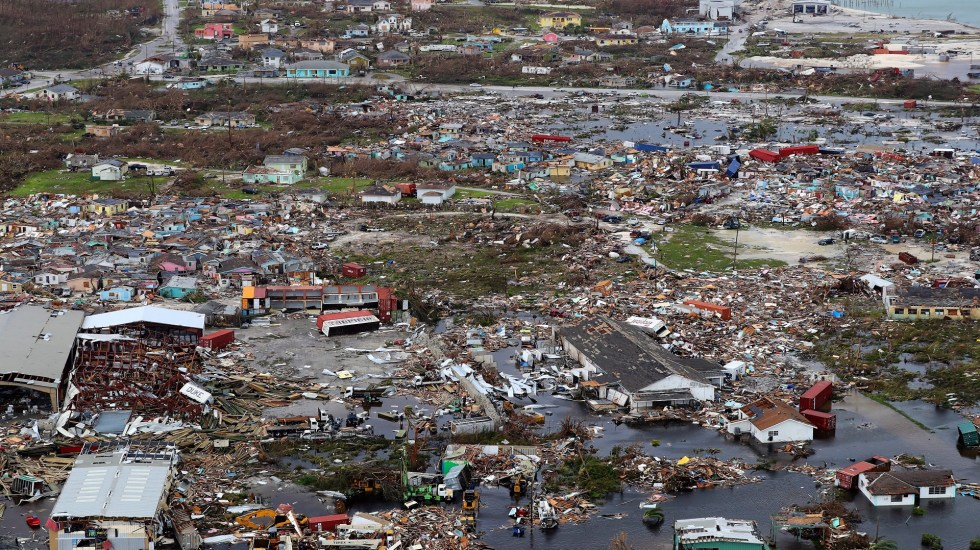 Suman 52 muertos por huracán Dorian en Bahamas - Devastación en Bahamas por Dorian. Foto de EFE