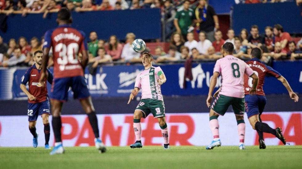 Osasuna y Betis empataron a cero goles - Foto de @RealBetis