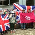 Centenares de hongkoneses piden a Reino Unido que apoye la lucha democrática