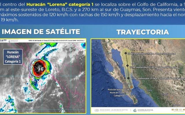 Sonora y Sinaloa mantienen alerta naranja por huracán Lorena - huracán lorena