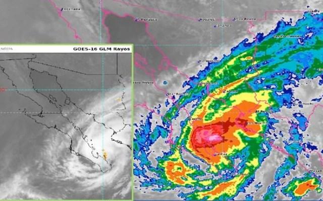 Lorena se ubica al norte de La Paz; prevén lluvias intensas en BCS y Sonora - huracán Lorena golfo
