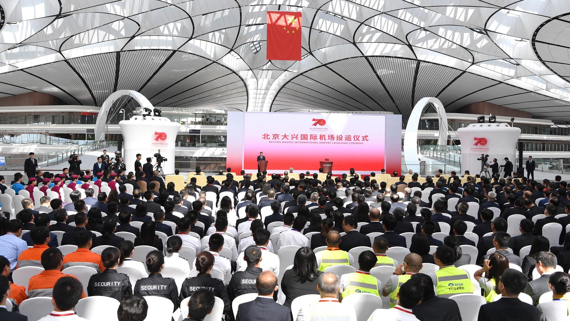 Inauguración del nuevo mega aeropuerto de China