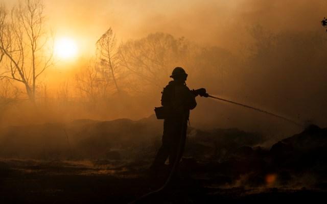 Presentan 'gel' para prevenir incendios forestales en California - Incendio en California, EE.UU. Foto de EFE