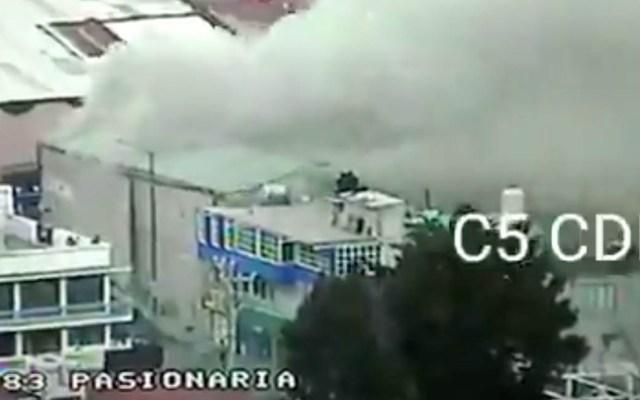 Servicios de emergencia atienden incendio en la Gustavo A. Madero - Incendio Gustavo A. Madero