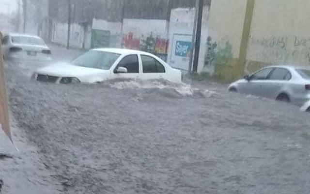Ejército aplica Plan DN-III-E por desborde de tres ríos en Chiapas - Inundación en las calles 3.ª sur y 2.ª oriente de Tapachula, Chiapas. Foto de @AlertaChiapas
