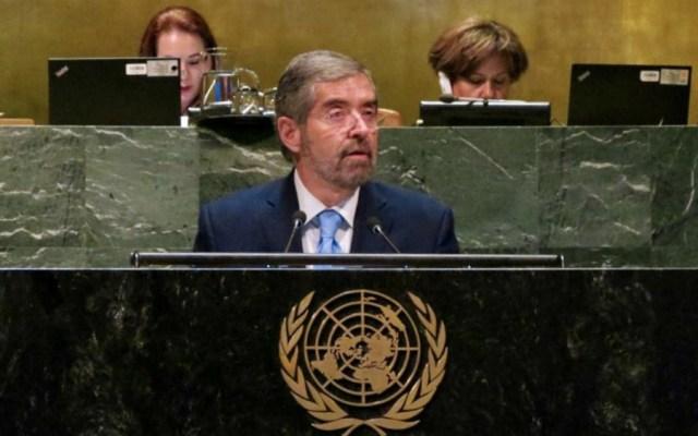 """Sin paz sostenible, """"no hay desarrollo posible"""": De la Fuente en la ONU - Foto de @MexOnu"""