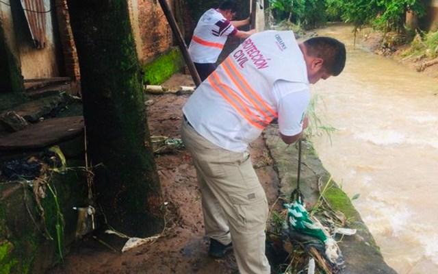 Labores de limpieza tras desbordamiento de ríos en Chiapas - Ríos Chiapas