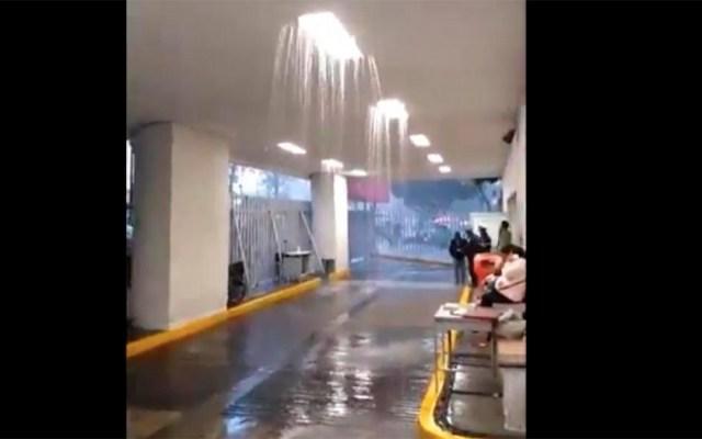 """#Video Lluvias crean """"cascada"""" en el Hospital General Balbuena - lluvias cascada hospital general balbuena"""