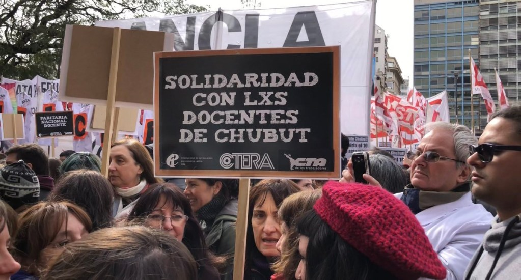 Maestros de Argentina realizan paro nacional y movilizaciones. Noticias en tiempo real