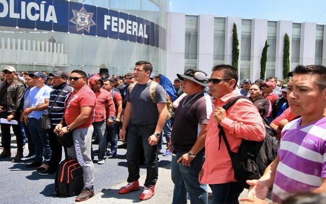 Alistan policías federales manifestación en el AICM - manifestación policías federales