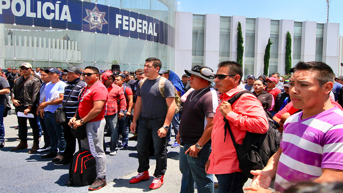 manifestación policías federales