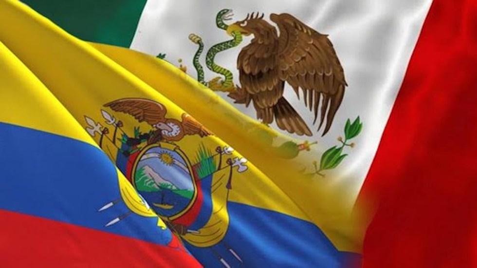 Ecuador y México comenzarán negociaciones para acuerdo comercial - Banderas de México y Ecuador (Foto de mgmx.com)