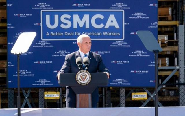 Mike Pence urge al Congreso de EE.UU. a aprobar el USMCA - mike pence congreso usmca