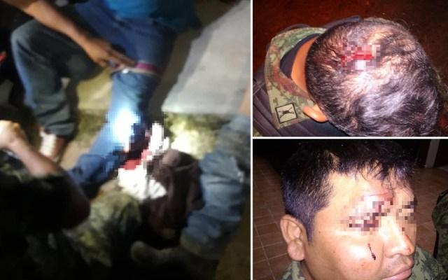 Hieren a militares en intento de robo a tren en Querétaro - Militares y civiles heridos por enfrentamiento en Querétaro. Foto de LDD