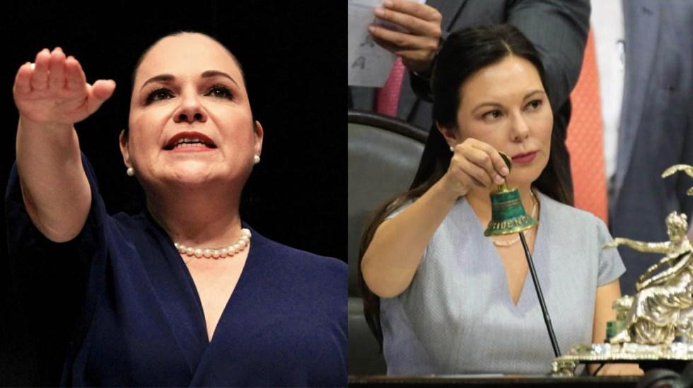 Histórico: mujeres quedan al frente del Congreso de la Unión - Mónica Fernández y Laura Rojas Congreso Cámara de Diputados Cámara de Senadores