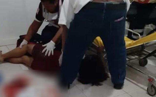 Sujeto apuñala a su pareja durante audiencia en Tabasco - Foto de @luizalane76