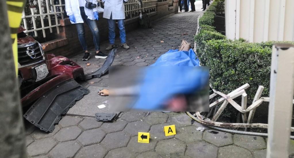 Mujer muere atropellada en Miguel Ángel de Quevedo - Foto de @GaboOrtega73