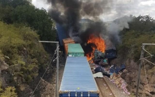Trenes de carga chocan en Hidalgo; hay cuatro heridos - Hidalgo Nopala choque trenes Hidalgo
