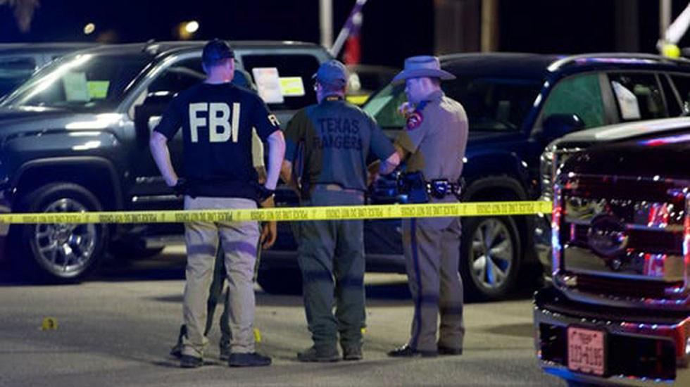Estados Unidos cierra 2019 con récord de tiroteos masivos - Oficiales en última escena de tiroteo en Odessa, Texas. Foto de Caller Times
