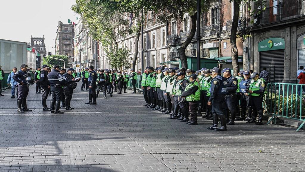 Cinco mil policías garantizarán seguridad de festejos patrios en el Zócalo. Noticias en tiempo real