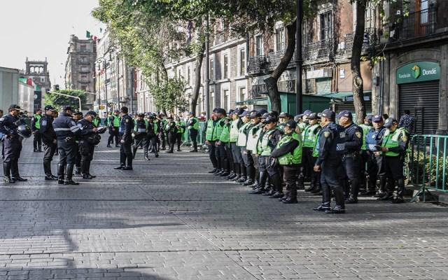 Cinco mil policías garantizarán seguridad de festejos patrios en el Zócalo - operativo de seguridad policías capitalinos zócalo capitalino festejos patrios