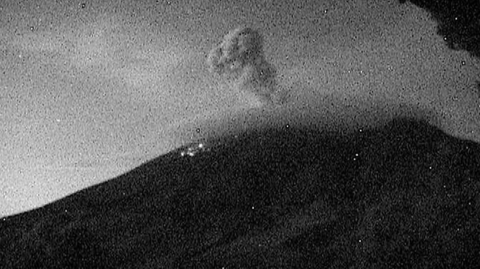 #Video Popocatépetl registra explosión de material incandescente - Popocatépetl