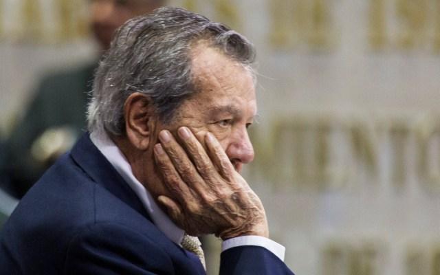 Porfirio Muñoz Ledo renuncia como presidente de la Mesa Directiva - 90903173. México, 3 Sep 2019 (Notimex-Acervo NTX).- Porfirio Muñoz Ledo anunció su renuncia a la presidencia de la Mesa Directiva de la Cámara de Diputados. Ciudad de México, 3 de septiembre de 2019. NOTIMEX/FOTO/ACERVO NTX/POL/