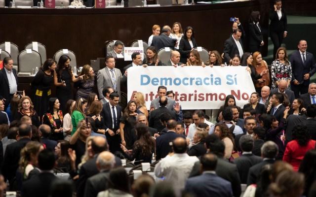 Entre protestas, inicia Periodo Ordinario de Sesiones en San Lázaro - Foto de Notimex-Alejandro Meléndez.