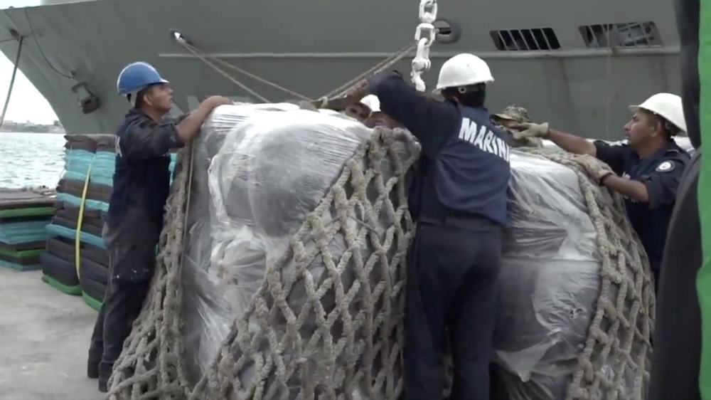 Reconoce López Obrador a Marina por apoyo a Bahamas - Foto de @SEMAR_mx
