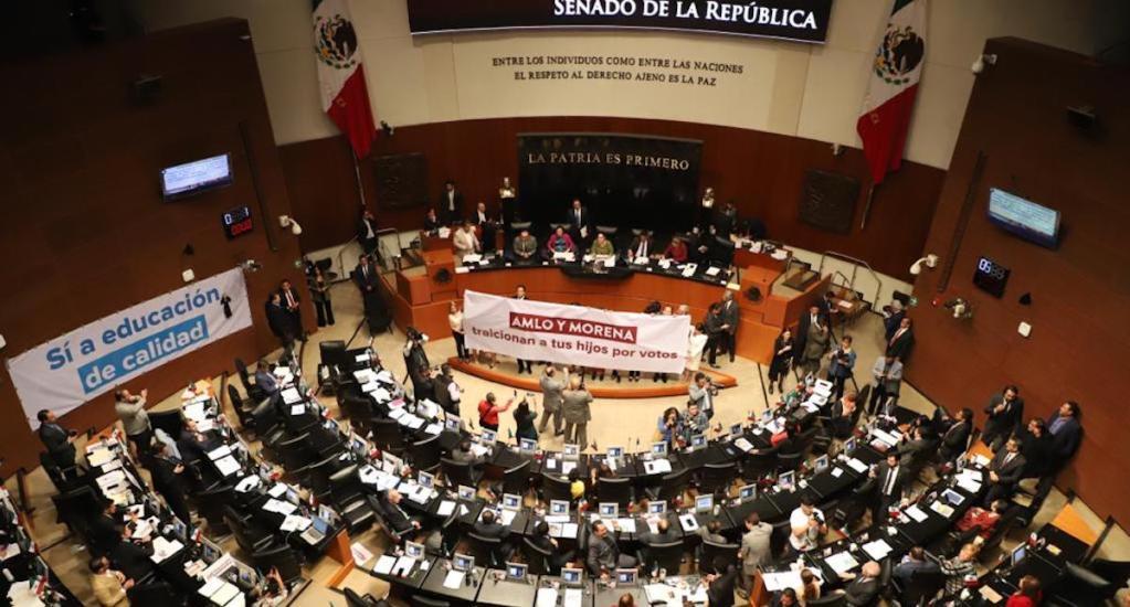 Senado aprueba las leyes secundarias de la nueva reforma educativa - Foto de @NoticiaCongreso