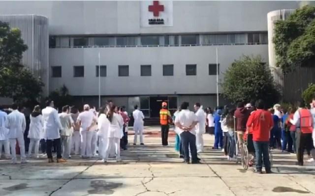 Mexicanos estamos preparados para actuar ante desastres: Cruz Roja - Simulacro afuera de Cruz Roja CDMX. Captura de pantalla / @CruzRoja_CDMX