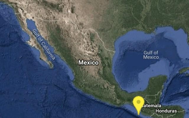 Sismo magnitud 4.8 sacude frontera de Chiapas con Guatemala - Foto de Sismológico Nacional