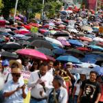 SNTE realizará bloqueos carreteros en Oaxaca este jueves - Maestros de la sección 22 del SNTE, estudiantes normalistas y organizaciones sociales. Foto de Notimex