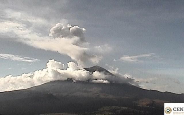 Volcán Popocatépetl emite 161 exhalaciones en las últimas 24 horas - Foto de Cenapred