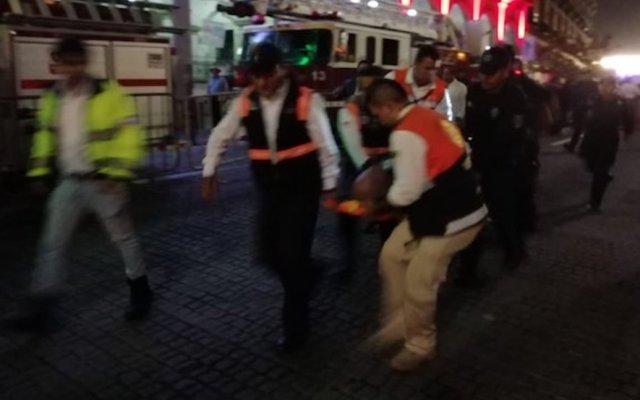 Accidente con pirotecnia durante Grito en Xalapa, Veracruz - Foto de @VialidadXalapa