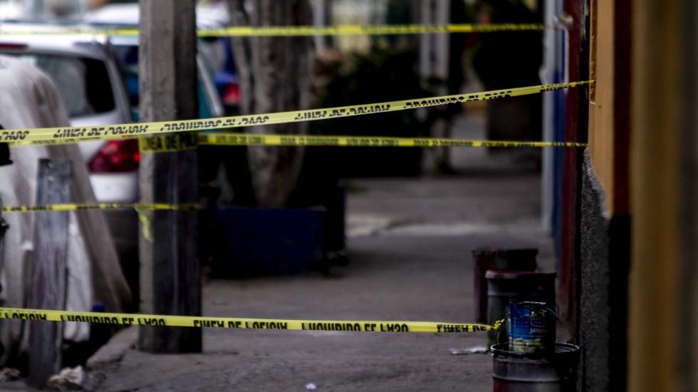 Iztapalapa termina la semana con al menos cuatro asesinatos - Escena del crimen acordonada en la alcaldía Iztapalapa. Foto de Notimex