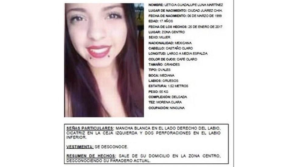 Reactivan búsqueda de adolescente desaparecida en 2017 en Ciudad Juárez - adolescente desparecida juarez