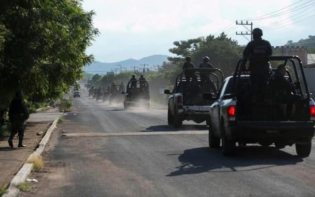 Buscan 80 militares a sujetos que emboscaron a policías estatales en Aguililla, Michoacán - Aguililla, Michoacán
