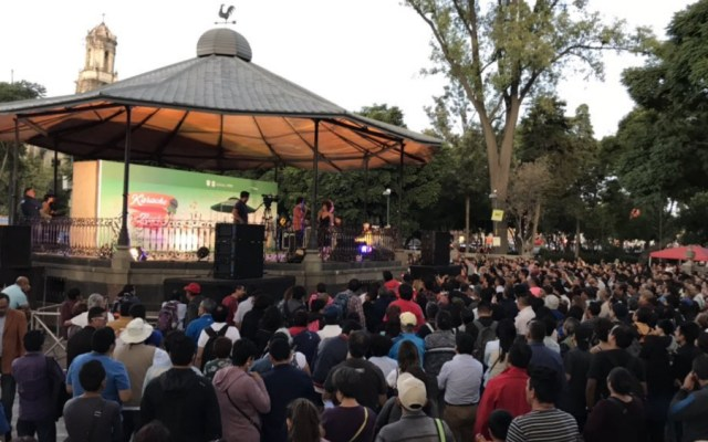 Tras ocho horas, terminó karaoke en homenaje a José José en la Alameda - Foto de @CulturaCiudadMX