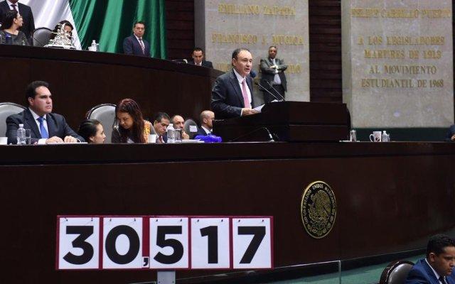 """""""El Gobierno entregará, en 2024, un país con tranquilidad y en paz"""", asegura Alfonso Durazo - Foto de @JCRomeroHicks"""