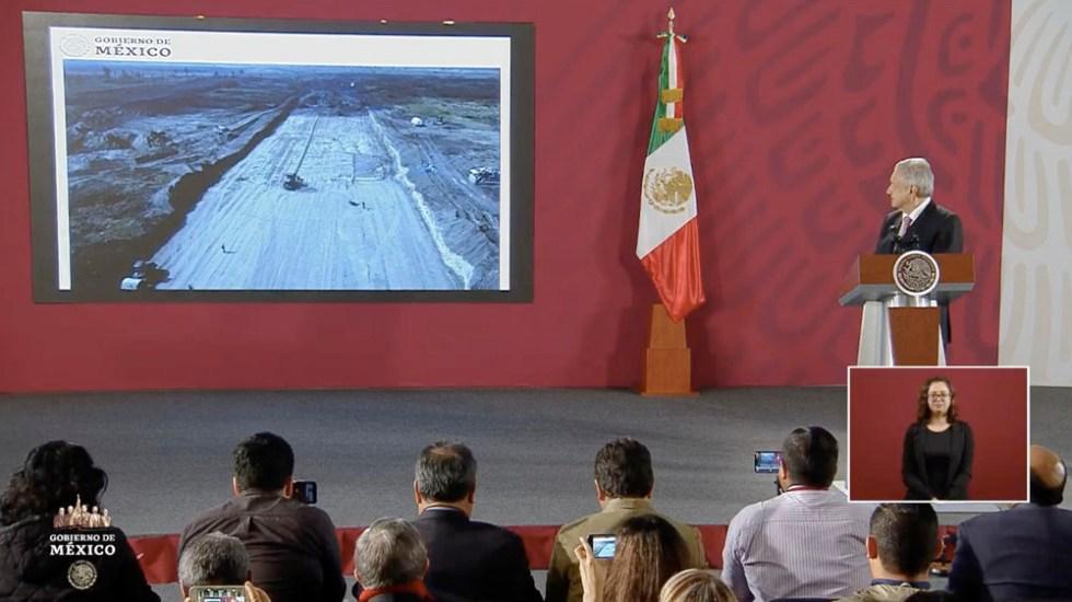 López Obrador presenta avancesdel Aeropuerto de Santa Lucía - López Obrador presenta avancesdel Aeropuerto de Santa Lucía a 10 días de trabajos