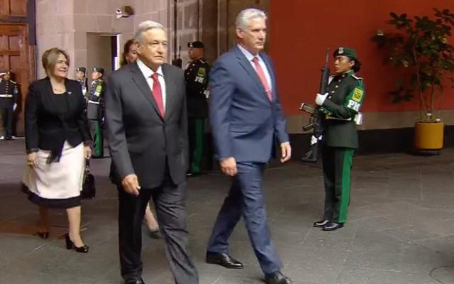 López Obrador recibe al presidente de Cuba en Palacio Nacional - AMLO recibe al presidente de Cuba