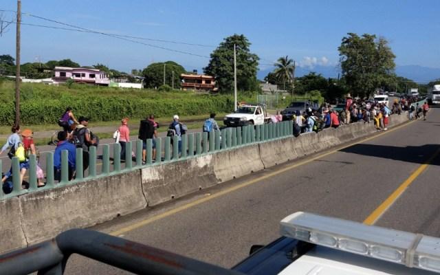 Caravana migrante llega a Huehuetán, Chiapas - Foto de @Pascual_2107
