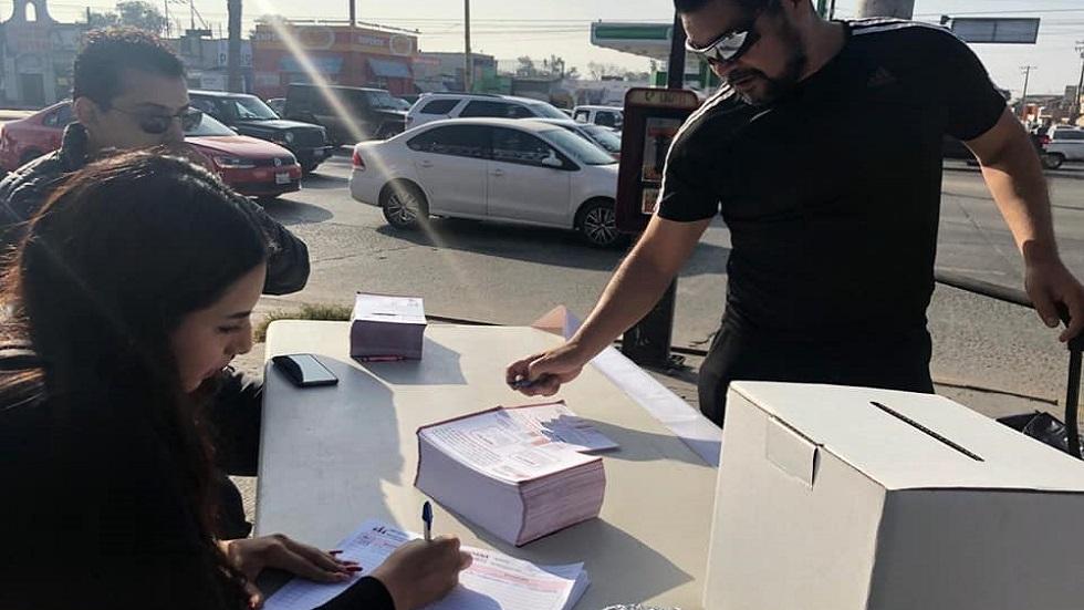 Resultados de consulta ciudadana en Baja California se informarán hoy - Casilla de votación de 'Ley Bonilla'. Foto de @congresobc.poderlegislativo