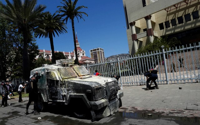 Suspende actividades Congreso de Chile por protestas - Foto de EFE