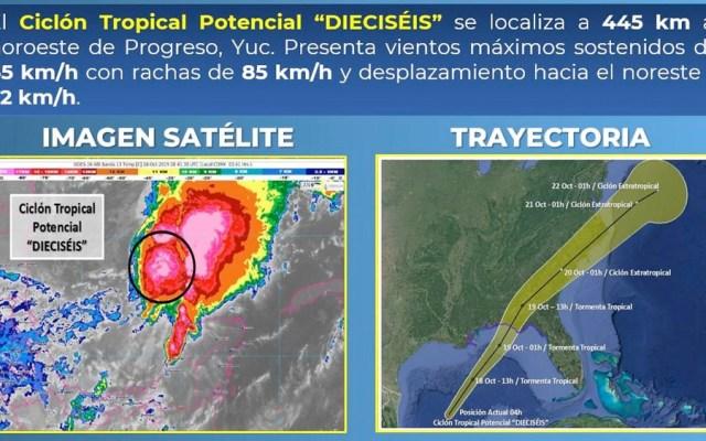 Prevén que ciclón se convierta en tormenta tropical este viernes - ciclón tormenta tropical