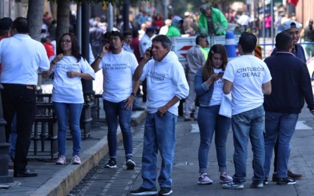 Llegan al Centro Histórico integrantes del 'cinturón de paz' - cinturón de paz 2 de octubre